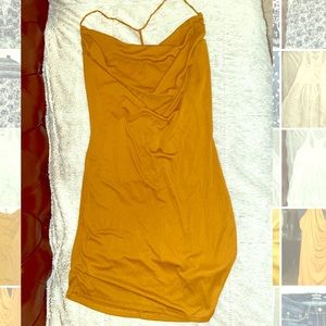 L Gold Forever 21 Bodycon Dress